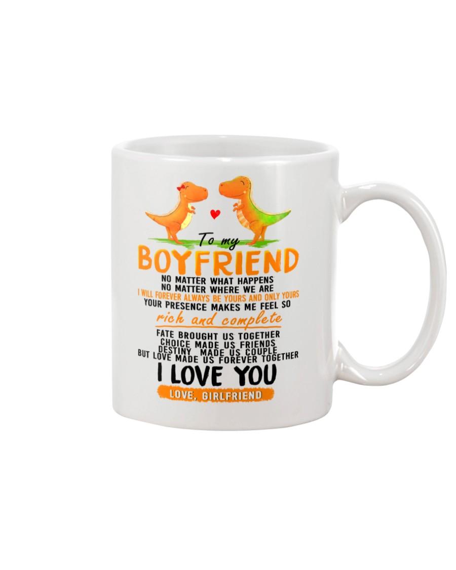 Dinosaur Boyfriend Love Made Us Forever Together Mug