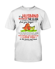 Dinosaur Husband Clock Ability Moon Classic T-Shirt thumbnail