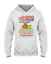 Dinosaur Husband Clock Ability Moon Hooded Sweatshirt thumbnail