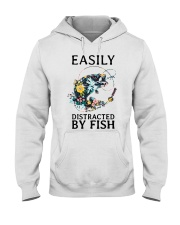 Easily distracted by Fish Hooded Sweatshirt thumbnail