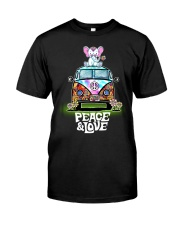 Peace and Love Elephant Shirt Classic T-Shirt front