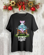Peace and Love Elephant Shirt Classic T-Shirt lifestyle-holiday-crewneck-front-2