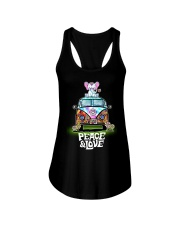 Peace and Love Elephant Shirt Ladies Flowy Tank thumbnail