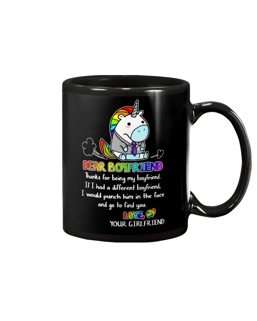 Unicorn Thanks For Being My Boyfriend Mug