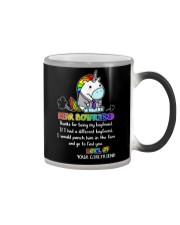 Unicorn Thanks For Being My Boyfriend Color Changing Mug thumbnail