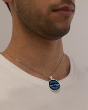 My Husband God Blessed I Love You Viking Metallic Circle Necklace aos-necklace-circle-metallic-lifestyle-2