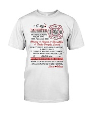 Firefighter Beautiful Inside And Out Daughter Mom Classic T-Shirt thumbnail