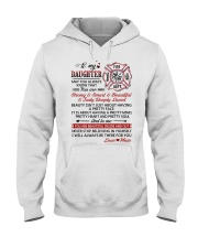 Firefighter Beautiful Inside And Out Daughter Mom Hooded Sweatshirt thumbnail