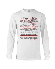 Firefighter Beautiful Inside And Out Daughter Mom Long Sleeve Tee thumbnail