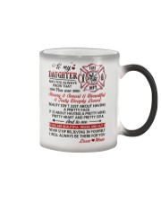 Firefighter Beautiful Inside And Out Daughter Mom Color Changing Mug thumbnail