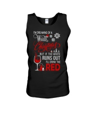 White Christmas Drink The Red Unisex Tank thumbnail