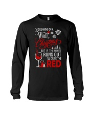 White Christmas Drink The Red Long Sleeve Tee front