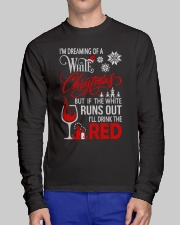 White Christmas Drink The Red Long Sleeve Tee lifestyle-unisex-longsleeve-front-1