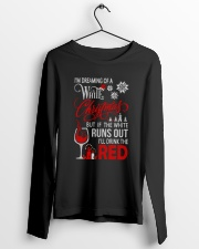White Christmas Drink The Red Long Sleeve Tee lifestyle-unisex-longsleeve-front-3