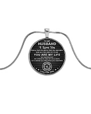 Firefighter You Are My Life Husband Metallic Circle Necklace front