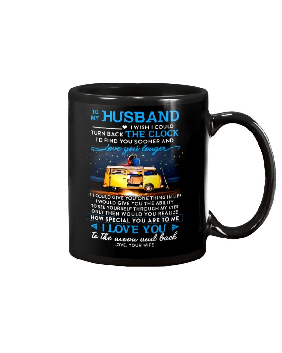 Camping Husband Clock Ability Moon Mug