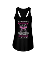 Breast Cancer To My Wife Mug Ladies Flowy Tank tile
