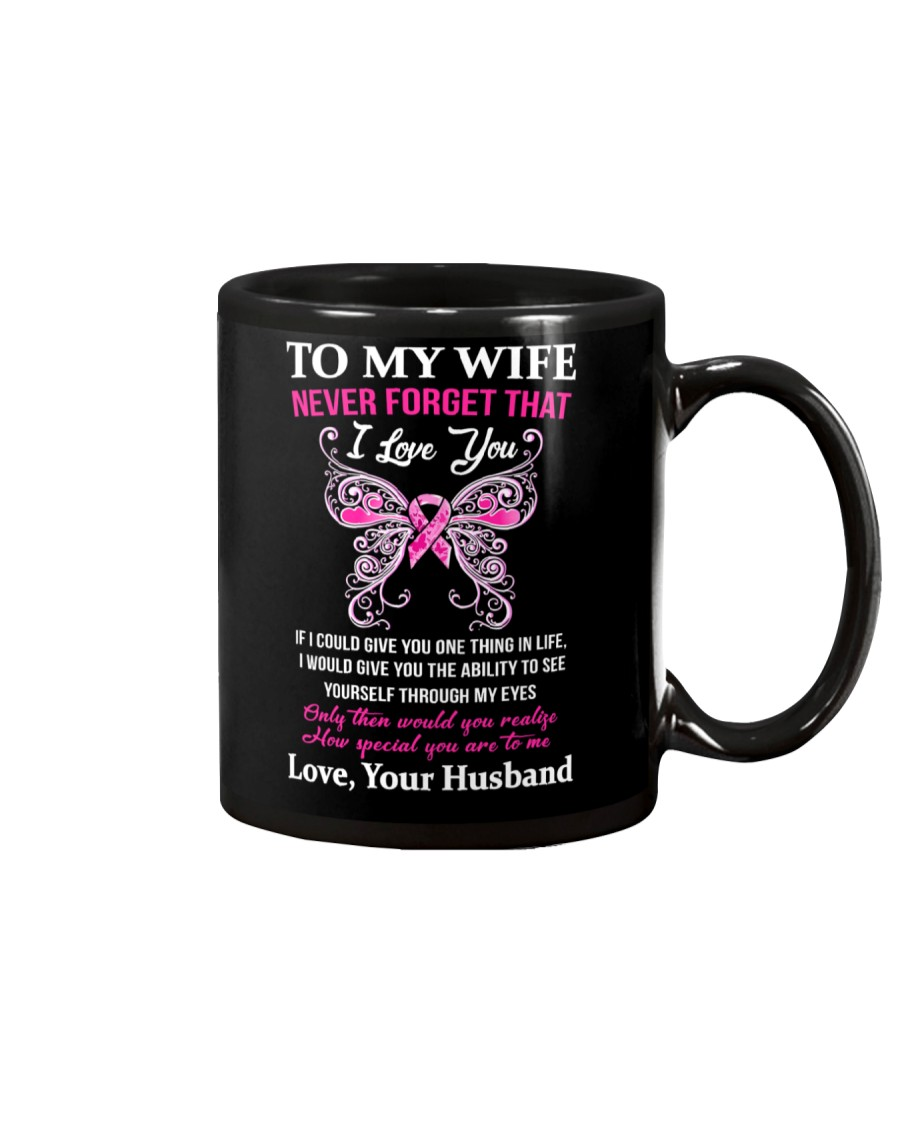 Breast Cancer To My Wife Mug Mug