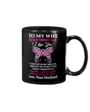 Breast Cancer To My Wife Mug Mug tile