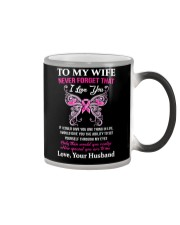 Breast Cancer To My Wife Mug Color Changing Mug tile