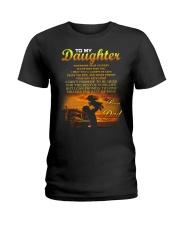 Trucker to my daughter mug Ladies T-Shirt thumbnail