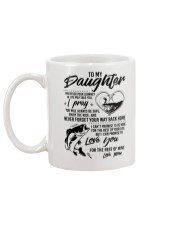 Fishing Daughter Mom Love you for the rest of mine Mug back