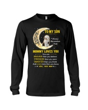 Old English Sheepdog Son Mom Mommy Loves You Long Sleeve Tee thumbnail