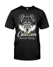 Criticism Never Sleep Wolf  Classic T-Shirt thumbnail