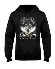 Criticism Never Sleep Wolf  Hooded Sweatshirt thumbnail