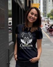 Criticism Never Sleep Wolf  Ladies T-Shirt lifestyle-women-crewneck-front-5