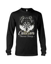 Criticism Never Sleep Wolf  Long Sleeve Tee thumbnail