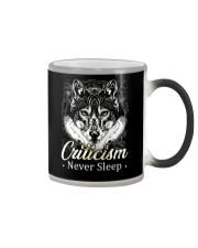 Criticism Never Sleep Wolf  Color Changing Mug thumbnail