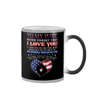Veteran How Special You Are Mug Wife Color Changing Mug tile