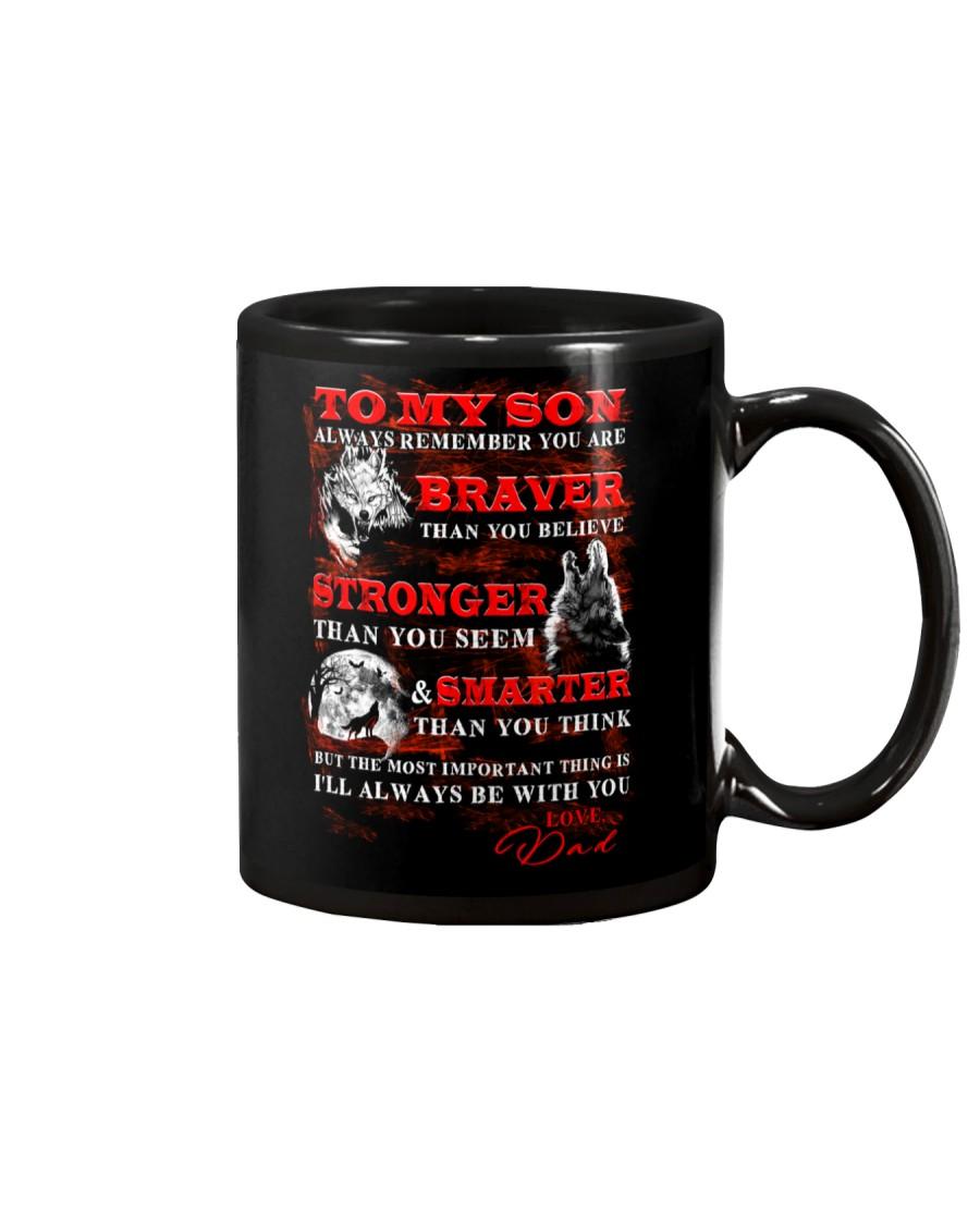 Wolf To My Son Dad Mug