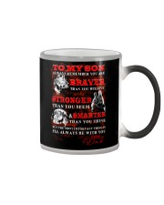 Wolf To My Son Dad Color Changing Mug thumbnail