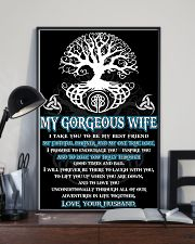 Faithful Partner True Love Wife Viking 11x17 Poster lifestyle-poster-2