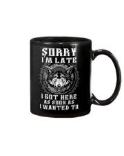 Sorry I'm Late Wolf Mug tile