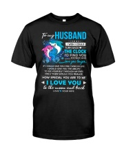 Shark Husband Clock Ability Moon Classic T-Shirt thumbnail