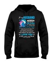Shark Husband Clock Ability Moon Hooded Sweatshirt thumbnail