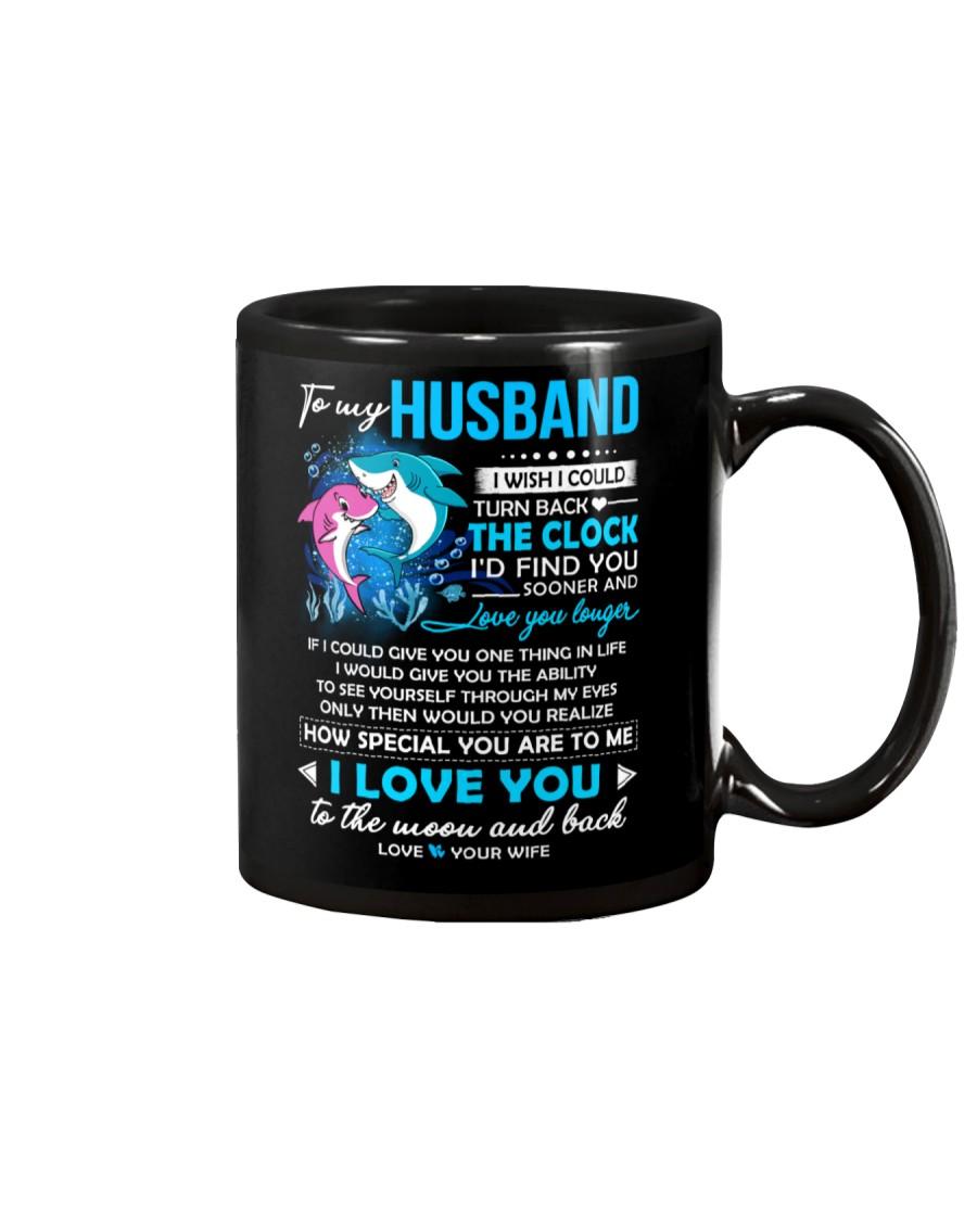 Shark Husband Clock Ability Moon Mug