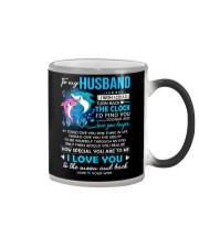 Shark Husband Clock Ability Moon Color Changing Mug thumbnail