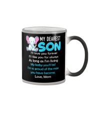 Elephant My Baby Son Color Changing Mug tile