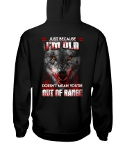 Wolf Keeping To The Shadows Hooded Sweatshirt back