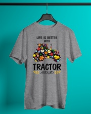 Farmer Tractor Life is better  Classic T-Shirt lifestyle-mens-crewneck-front-3