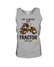 Farmer Tractor Life is better  Unisex Tank thumbnail