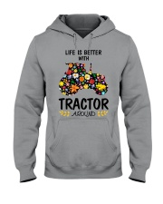 Farmer Tractor Life is better  Hooded Sweatshirt thumbnail