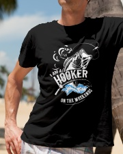 I'm A Hooker On The Weekends Classic T-Shirt lifestyle-mens-crewneck-front-11