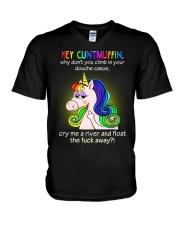 Hey Cuntmuffin V-Neck T-Shirt thumbnail