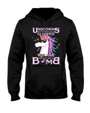 Unicorns Are Fragile Like A Bomb Hooded Sweatshirt thumbnail