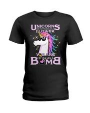 Unicorns Are Fragile Like A Bomb Ladies T-Shirt thumbnail